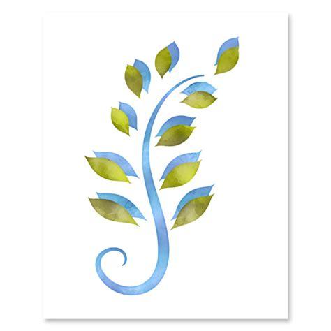 green printable wall art blue green foliage set printable wall art