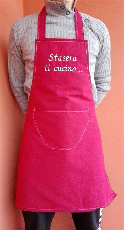 grembiule per cucinare grembiule da cucina per uomo rosso con scritta uomo