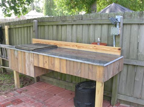 granite river outdoors fillet station table fish cleaning table search kitchen