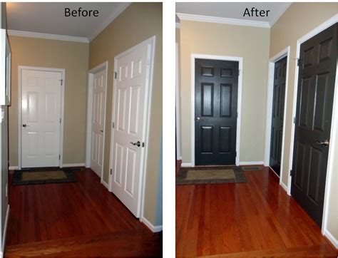 Painting Interior Doors Black Before And After For The Home On 216 Pins