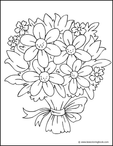 Coloring Page Flowers by Pretty Flower Coloring Pages Flower Coloring Page