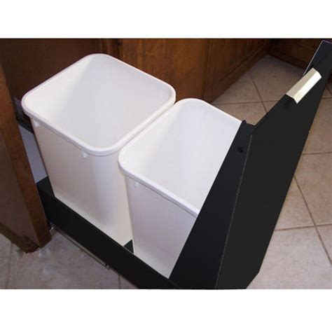 15 inch trash cabinet trash cans trash or recycling cabinet with trash cans by