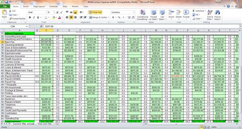 sle excel sheet for home expenses rental in e