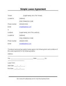 simple rental agreement template simple lease agreement hashdoc