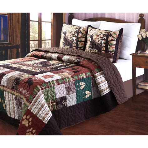 greenland home fashions whitetail lodge 3 multi king