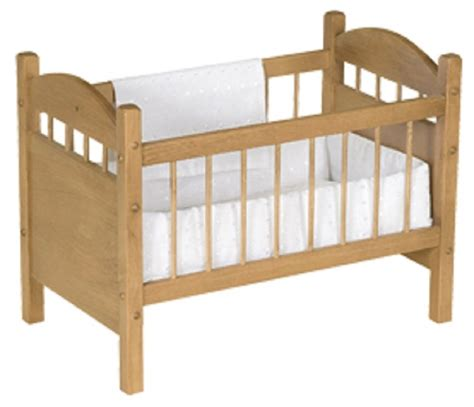 Handmade Wooden Crib - 18 quot baby doll crib bed handmade bedding oak wood