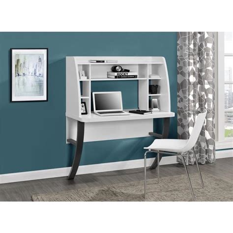 Altra White Wall Mounted Desk White Wall Mounted Desk