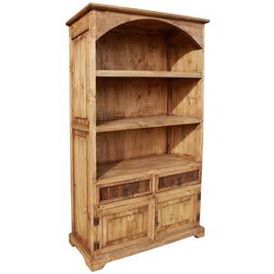 rustic pine collection arched bookcase lib03