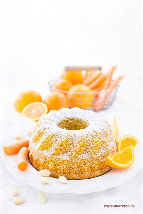 dankeschön kuchen rezept orangen karottenkuchen mit mandeln supersaftig herzelieb
