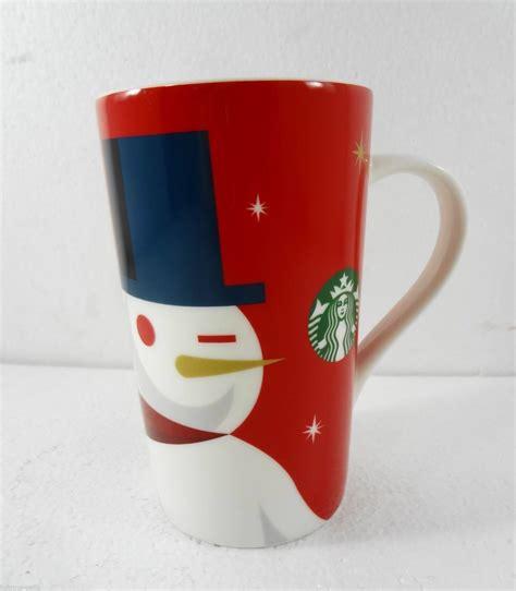 Starbucks Holiday Christmas 2012 Snowman Coffee Mug 16 oz NEW   Starbucks