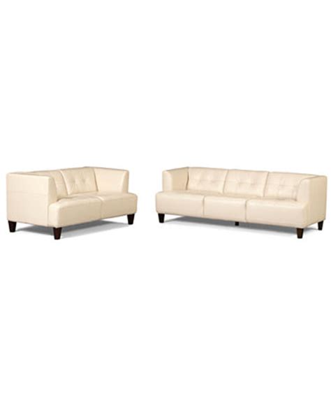 alessia leather sofas 2 set sofa and loveseat