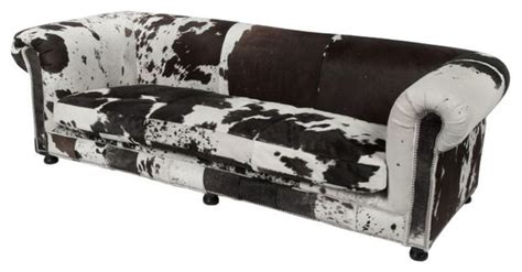 Cowhide Sofa Sale by Sold Out Cowhide Sofa With Nailhead Trim 4 000 Est