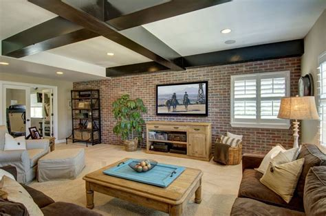 brick wall living room 25 brick wall designs decor ideas for living room