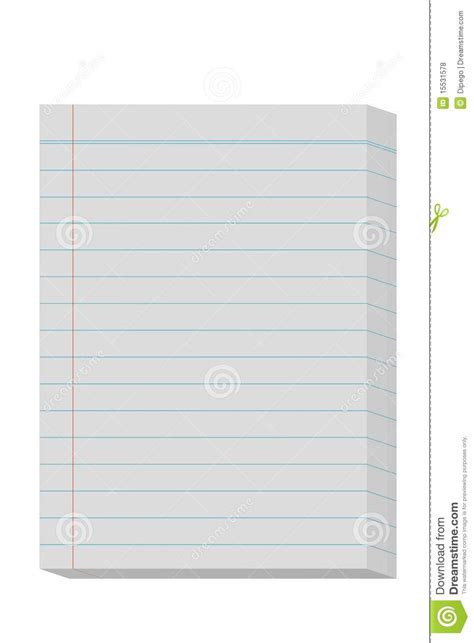 How To Make Pads Of Paper - lined paper pad stock illustration image of papers sheet