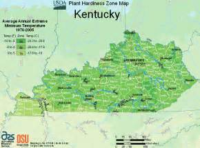 map of zones for plants trees in kentucky