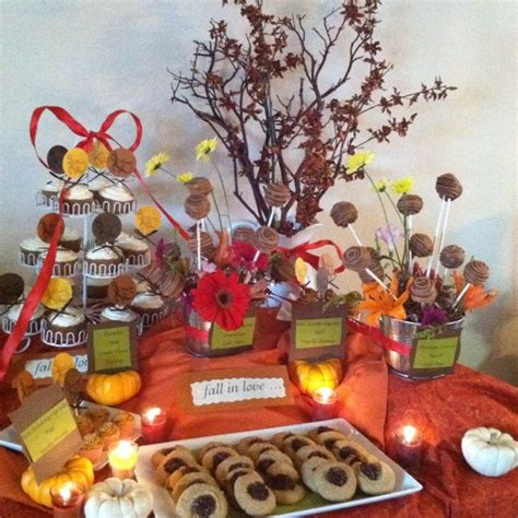 table shower san jose fall themed wedding shower dessert table custom confections based in san jose california like