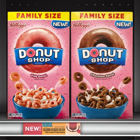 kelloggs donut shop cereal  junk food aisle