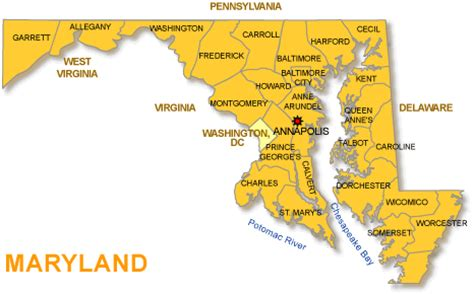 usa map maryland state your maryland wypr