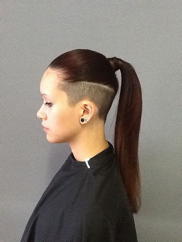 www ponytail with high nape shave haircut com 30 modern edgy haircuts to try out this season
