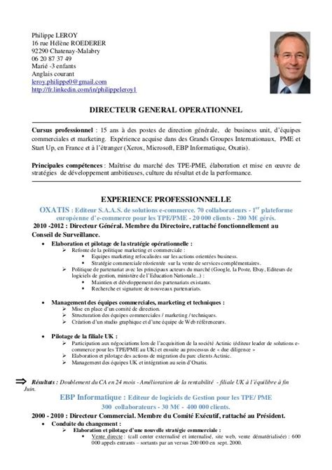 Resume For A Marketing Job by Cv Example Francais Curriculum Vitae Exemple Gratuit