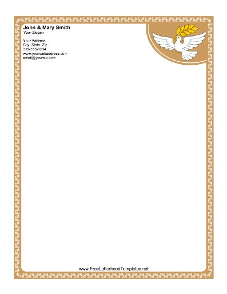 9 Personal Letterhead Templates Templates Assistant Church Stationery Templates