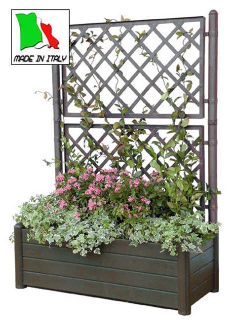 fioriere in resina per esterno fioriere in resina plastica con spalliera rettangolari per