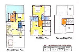 Row Home Floor Plan by Row House Floor Plans India Home Design Home Building