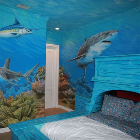 shark room decor 10 bedrooms that look like they re water