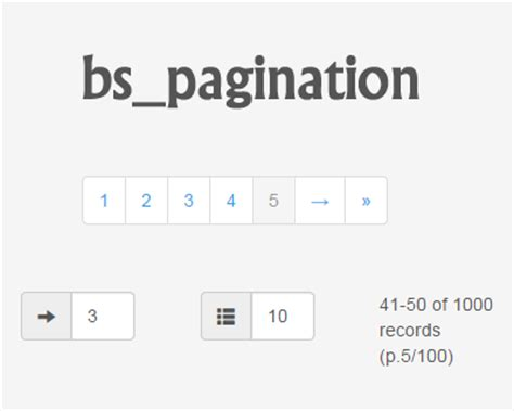 bootstrap table pagination jquery bs pagination bootstrap pagination plugin with jquery