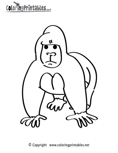 cute gorilla coloring page cute gorilla coloring pages coloring home
