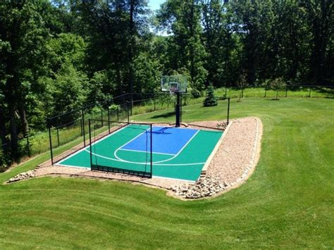 snapsports small backyard home basketball court