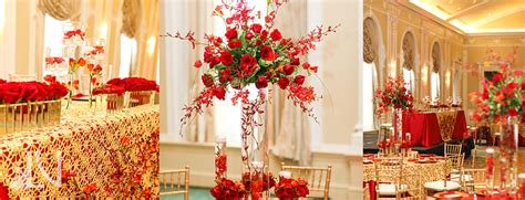 red floral decorations areli zach wedding ideas