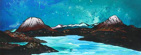 spray painting scotland sutherland painting print kinlochbervie ben arkle ben
