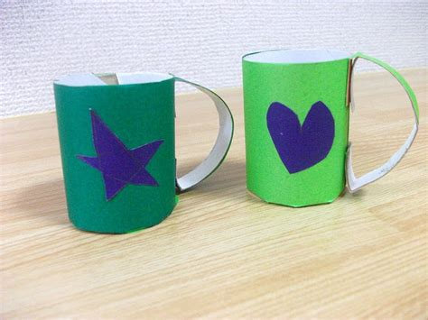 Origami Cup - preschool crafts for origami cup craft