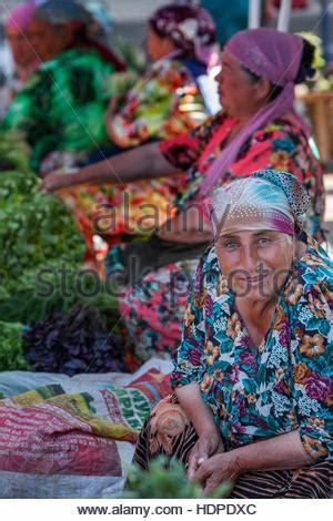 uzbekistan women in traditional dress stock photo, royalty