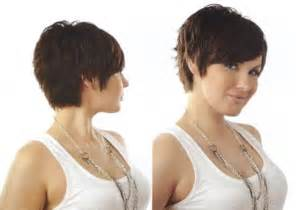 in back and in front hair short layered bob hairstyles front and back view