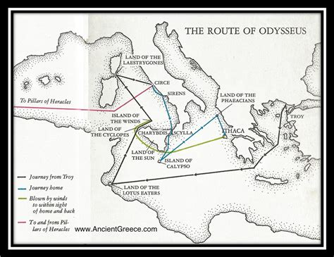 map of odysseus