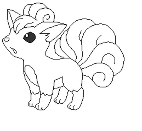 pokemon coloring pages of vulpix vulpix base by pikaseel on deviantart