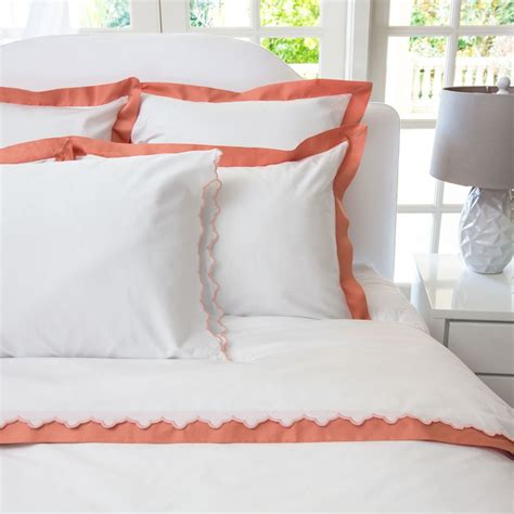 coral bed sheets coral duvet cover the linden coral duvet crane canopy