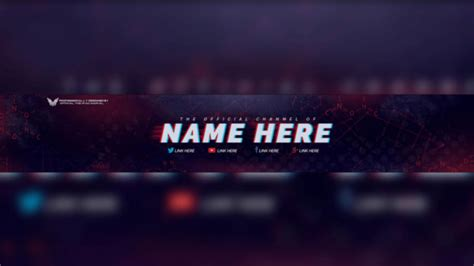 youtube banner template 50 free psd format download