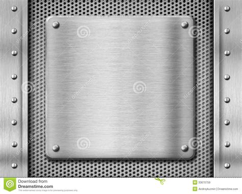 Metal Stainless Steel Plate Background Royalty Free Stock Images Image 33670759 Metal Template