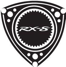mazda rx 8 decals rx 8 branded rotary sticker