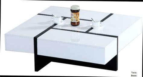 table basse et blanche fly le bois chez vous