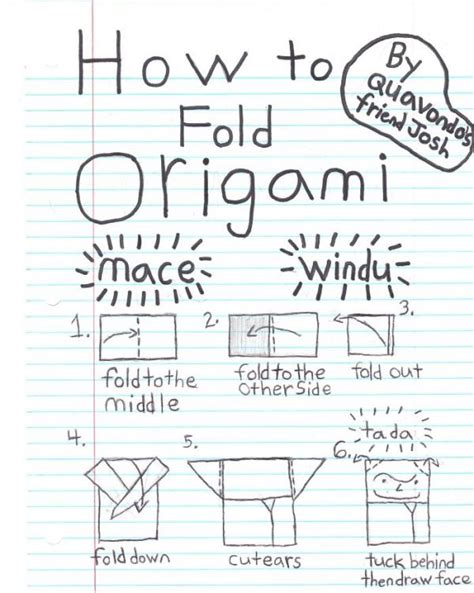 How To Fold Origami Yoda - for mace foldu origami yoda