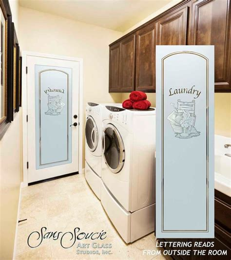 Laundry Room Doors Frosted Glass Laundry Room Door Sandblast Frosted Glass Thru The Wringer 2d Eclectic Laundry Room
