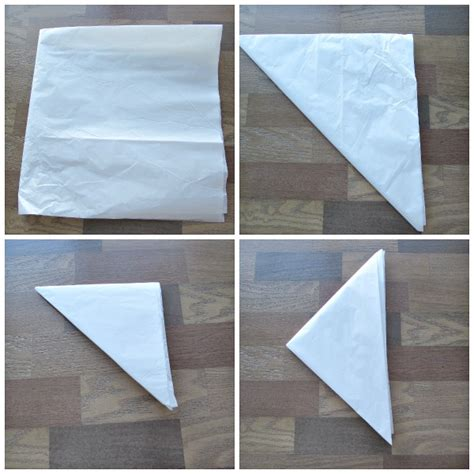 Fold Paper Into Triangle - tissue paper catcher val event gal
