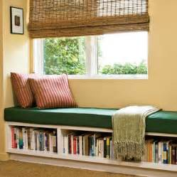 Beautiful way to transform a window seat for comfortable reading and a