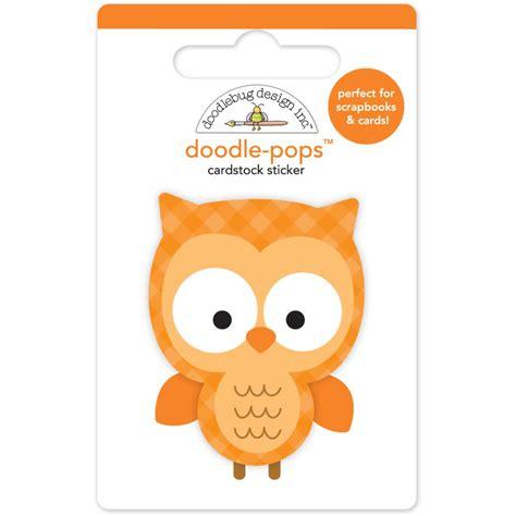 doodle pop doodlebug doodle pops owl cocoa