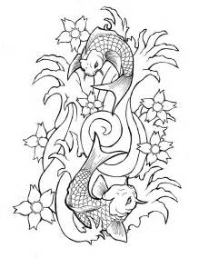 Two Koi Fish Outline by Portfolio New Flash Outlines