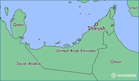 uae in world map where is sharjah the united arab emirates sharjah ash